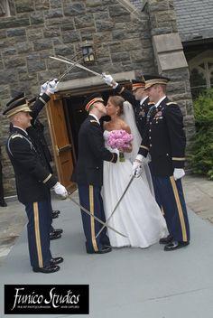Saber Arch Kiss at West Point -- Matt Deloia '97