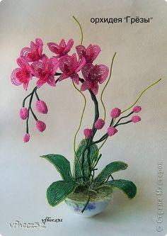Orchidée, paper quilling