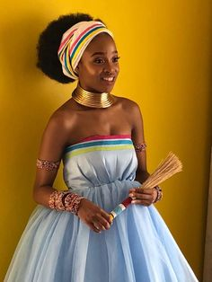 A Stunning Pedi Bride In Africa Fashion House Latest African Fashion Dresses, African Print Dresses, African Print Fashion, African Dress, African Prints, Ankara Fashion, African Fabric, Pedi Traditional Attire, Sepedi Traditional Dresses
