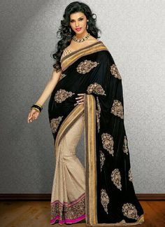 2014 DESIGNER SAREE COLLECTION | Black Magic Saree Collection 2013-2014 | Indian Designers Black Sarees ...