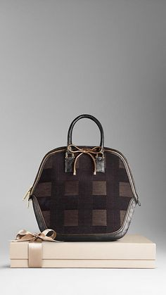 The Orchard in Metallic Check Jacquard and Alligator  Burberry Burberry  Coat 9da1f161ce809