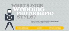 Pin now read later: a visual guide to find out your personal wedding photography style! #wedding #photo #ideas