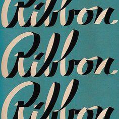 Love this Ribbon type. Typography Love, Typo Logo, Typography Letters, Graphic Design Typography, Graphic Design Illustration, Bullet Journal Font, Journal Fonts, Ribbon Font, Letter Form
