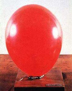 """Artist's Breath"" Piero Manzoni Date: 1960 Style: Conceptual Art Genre: installation Piero Manzoni, 60s Art, Robert Rauschenberg, Red Balloon, Traditional Paintings, Italian Artist, Art Object, Conceptual Art, Art Plastique"