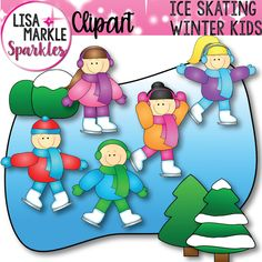 The weather outside is frightful, but this clipart makes it look so delightful! Use these bright, colorful happy ice skating kids to brighten up your winter activities and teaching resources! This set contains 5 kids ice skating, a snowy tree, a snowy bush, and a frozen pond for ice skating! 8 color graphics and their blackline versions are also included! All files are 300 DPI PNG files with transparent backgrounds! Enjoy!