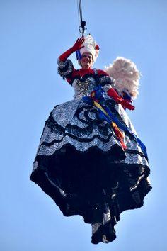 Domenica 04 febbraio, il volo dell'angelo, Elisa Costantini, a Piazza San Marco, Carnevale di Venezia 2018
