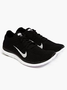 more photos 2b0d0 e094f Nike Men s Black Flyknit Free 4.0 Sneakers   oki-ni Nike Men, Sneakers Nike