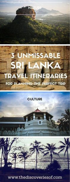 Sri Lanka is one of the hottest travel destinations. Packed with beaches, culture, amazing food and historical sites. Read our three step-by-step two week itineraries and tips to help you plan your perfect backpacking trip. Galle I Unawatuna I Kandy I Yala National Park I Colombo I Ella I Sigiri #travel #srilanka #asia