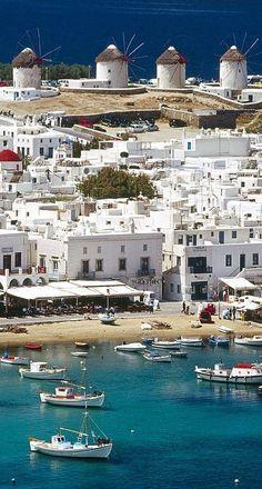 Greece Travel Inspiration - The Windmills of Mykonos, Greece