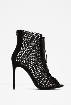 Zara - Lace-up leather high heel sandals