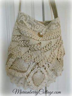 Boho crochet handbag