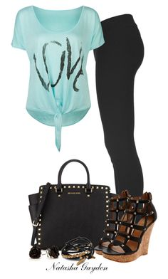 """Caged Wedge Sandals"" by natasha-gayden ❤ liked on Polyvore featuring Helmut Lang, Full Tilt, MICHAEL Michael Kors, Diavolina and Gag & Lou"