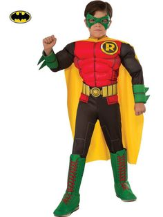 Check out Boys Deluxe Robin Costume - Batman Costumes from Costume Super Center Robin Halloween Costume, Robin Costume, Classic Halloween Costumes, Halloween Kids, Batman Halloween, Halloween 2016, Halloween Party, Batman Costumes, Boy Costumes