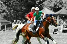Polocrosse player Sara Cifeli at the 2012 Bucks County Polocrosse Tournament wearing her Mountain Horse boots to play in.
