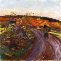 Autumn Rain.c.1897 by Edvard Munch