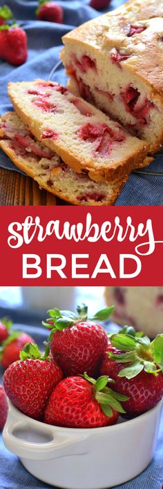 This Fresh Strawberry Bread is the perfect way to make use of fresh summer strawberries! It comes together quickly and is packed with delicious strawberry flavor. Sure to be a family favorite! Easy No Bake Desserts, Best Dessert Recipes, Easy Desserts, Delicious Desserts, Cake Recipes, Amazing Recipes, Strawberry Bread, Strawberry Desserts, Easy Bread Recipes