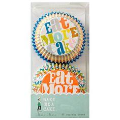 Eat More Cupcakes Cupcake Liners