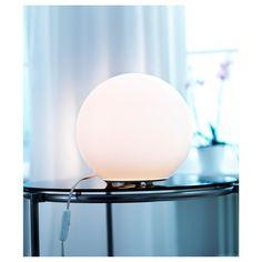 FADO Table lamp with LED bulb, white - IKEA Ikea Fado, Billy Regal, Lampe Decoration, Globe Lamps, White Table Lamp, Table Lamps, Ball Lights, Led Lampe, Bedside Lamp