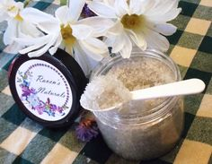 Lavender Vanilla Salt Scrub by RavensNaturals on Etsy