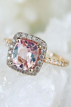 Bague de Fiançailles – Tendance : 27 Morganite Engagement Rings We Are Obsessed With ❤ See more: www. Engagement Solitaire, Colored Engagement Rings, Gemstone Engagement Rings, Antique Engagement Rings, Diamond Wedding Rings, Bridal Rings, Diamond Rings, Beautiful Wedding Rings, Beautiful Engagement Rings