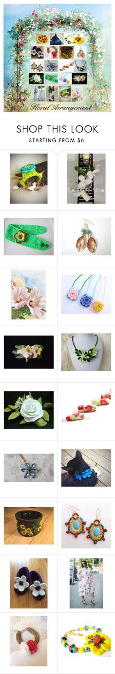 """""""Floral Arrangement: Handmade Gift Ideas"""" by paulinemcewen ❤ liked on Polyvore featuring rustic, vintage and country"""
