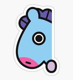 Pegatinas «BT21 RJ Patrón de pijamas rayados» de ZeroKara | Redbubble Pop Stickers, Tumblr Stickers, Printable Stickers, Bts Got7, Homemade Stickers, Anime Muslim, Cute Kawaii Drawings, Bts Drawings, Bts Chibi