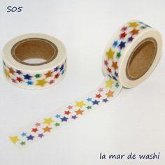 Washi Tapes estrellas de colores