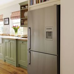 Fridge freezer   Step inside this traditional soft green kitchen   Reader kitchen   PHOTO GALLERY   Beautiful Kitchens   Housetohome
