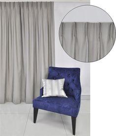 Single one finger New York pinch pleat curtain header