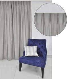Single one finger New York pinch pleat curtain header