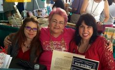 Authors: D. Martin & Mary A. Pérez with Houston Writers Guild Executive Director/CEO, Fern Brady in the middle, enjoying the Texas Book Fest in Austin!