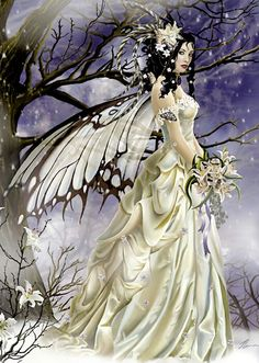 Pretty butterfly winged fairy.. Creatures, Victorian, Ice, Dresses, Faeries, Fashion, Vestidos, Moda, Gowns