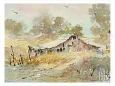 Dogtown Road Barn Giclee Print by LaVere Hutchings at Art.com
