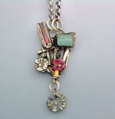 Natural Tourmaline Crystal Necklace by Temi on Etsy, $160.00