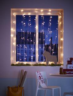 Ideas for holiday window decor - IKEA Ikea Wedding, Wedding Hacks, Best Home Interior Design, Ikea Furniture, Furniture Removal, Trendy Home, Diy Wedding Decorations, Discount Furniture, Christmas Lights
