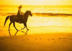 Beach Rider Greeting Card