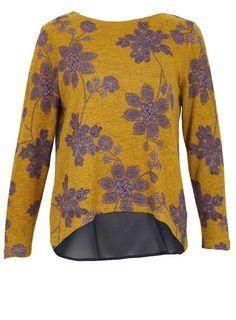 **Tenki Mustard Floral Jumper