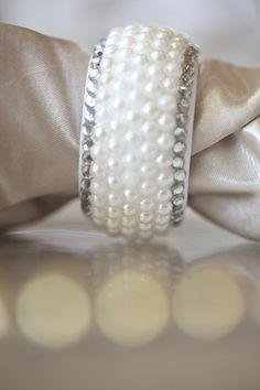 Gold, Pearl Napkin Ring