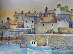 Portsoy Scotland by Malcolm Coils | ArtWanted.com
