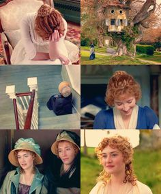 Scenes from Sense and Sensibility, my favorite book to movie adaptation.