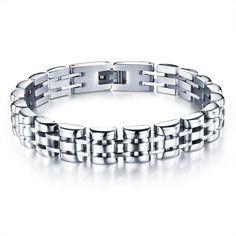 Titanium plated stainless Steel bracelet