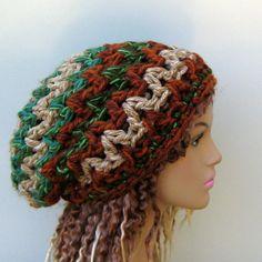 Chunky Slouchy beanie crochet Hippie Hat by PurpleSageDesignz, $ 20.00