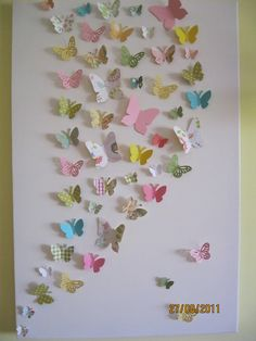 3D Butterfly Wall Art / Nursery / Children's / Teen by RonandNoy