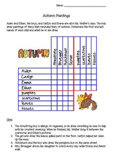 Thanksgiving logic puzzles and venn diagram venn diagrams problem this autumn themed logic problems asks students to match the first and last names of children ccuart Images