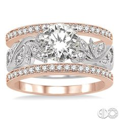 Nancy & Co. Fine Jewelers: Your Trusted Source for Bridal & Diamond Jewelry  Rose & White Gold 3 Piece Wedding Set