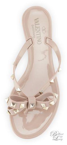 Brilliant Luxury * Valentino Rockstud PVC Thong Sandal