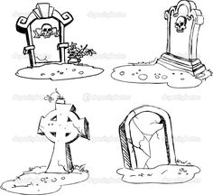 girl grave stone drawing - Google Search