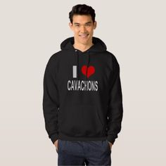 I Love Cavachons Dog Hoodie - dog puppy dogs doggy pup hound love pet best friend