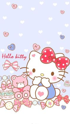 Hello Kitty Iphone Wallpaper, My Melody Wallpaper, Hello Kitty Backgrounds, Sanrio Wallpaper, Friends Wallpaper, Kawaii Wallpaper, Wallpaper Iphone Cute, Cute Wallpapers, Hello Kitty Art