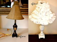 Lamp Makeovers: before and after